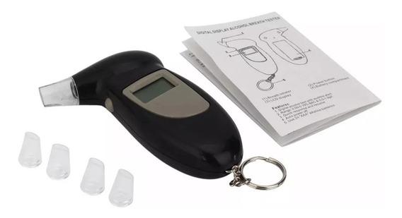 Bafômetro Digital Portátil Tela Lcd Teste Álcool Lei Seca