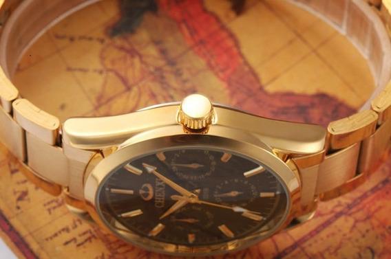 Relógio Chenxi Masculino Modelo 006b Dourado Militar De Lux