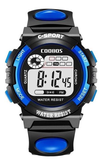Reloj Infantil Led Niño Alarma Cronometro Contra Agua Co0118