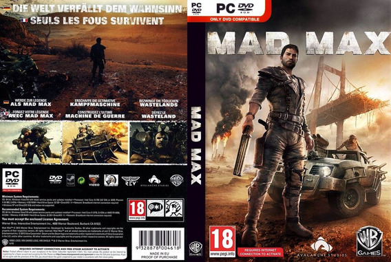Mad Max Pc (mídia Física)