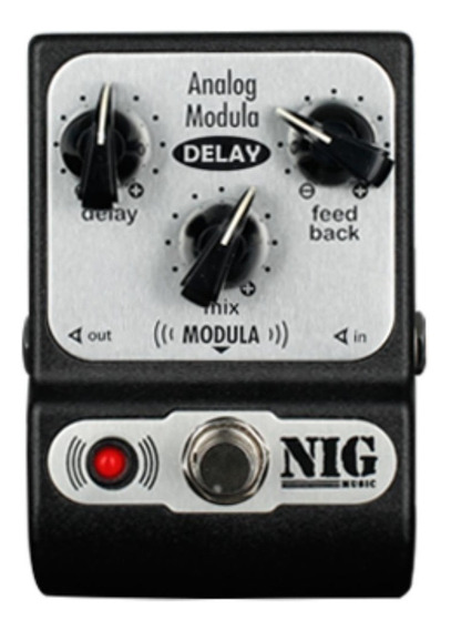 Pedal Nig Analog Modula Delay | Padm | Delay | Para Guitarra