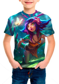 Camiseta Infantil Lol Neeko Camaleoa Curiosa - M001