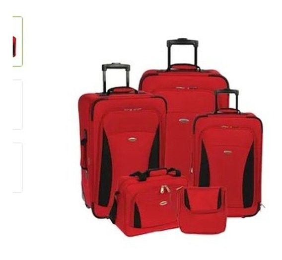Set De Viaje Olympia X 5 Piezas Rojo Sin Stock