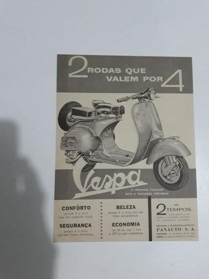 Propaganda Antiga Moto Monareta Vespa Panauto