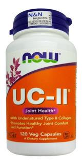 Uc-ii 40mg 120 Caps Colágeno Tipo 2 Now Foods Importado