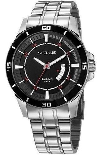 Relógio Seculus 28965g0svna1 Prata Original Frete Grátis