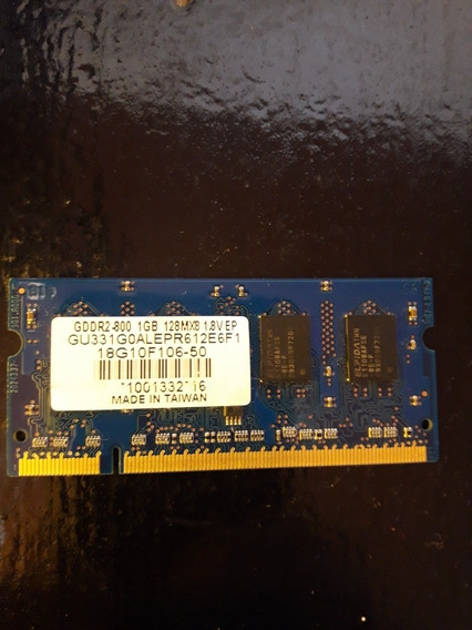 Memoria Ram Sodimm Notebook All In One Gddr2-800 1gb 128mx8