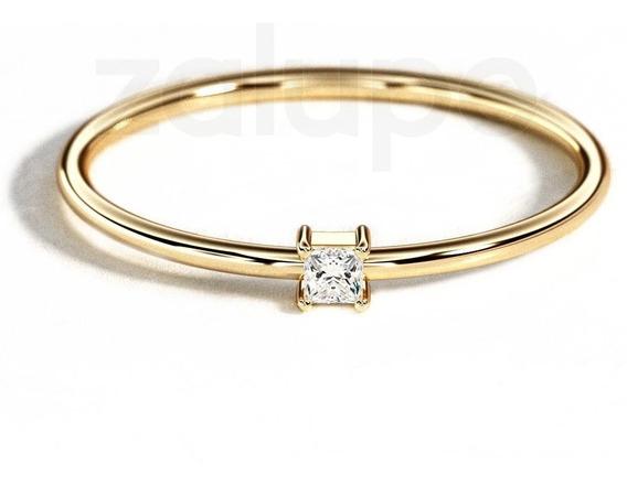 Anel Ouro 18k Diamante Aparador Noivado Casamento Zalupe