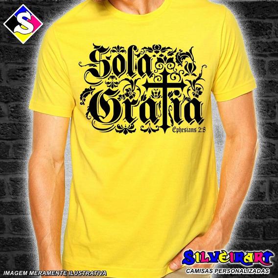 Camisa Personalizada Gospel - Sola Gratia - Silveirart 30