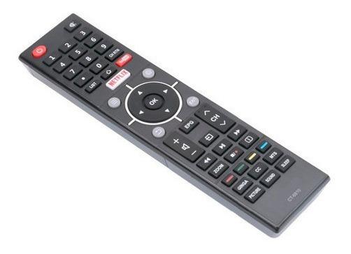 Controle Lcd P/ Tv Led 4k Smart Nova Toshiba L32s3900s Semp