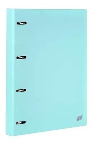 Imagem 1 de 4 de Fichário Caderno Argolado A4 Azul Tom Pastel Yes + 96 Folhas