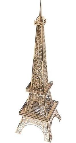 Imagen 1 de 4 de Torre Eiffel Réplica Armable En Madera, Jerarquía En Regalos