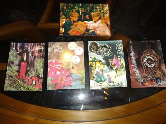 Lote De Postales Navideñas Antiguas