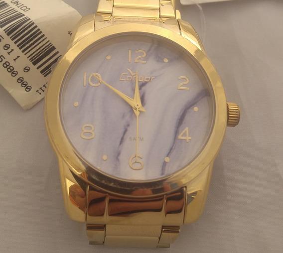 Relógio Condor Dourado Feminino Co2035kod/k4c Original