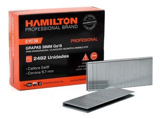 Grapas Grampas Engrampadora Ga18 38 X 5.7mm Hamilton 2482 Un