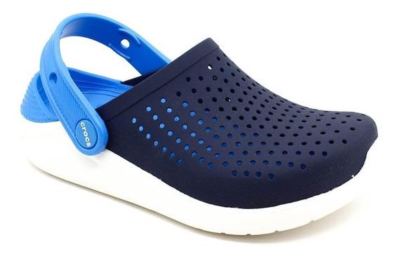 Crocs Clog Lite Ride Infantil Azul Marinho