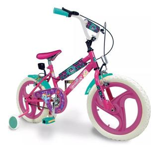 Bicicleta Rodado 16 My Little Pony Con Rueditas