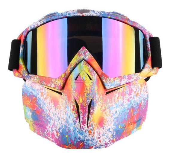 Óculos De Óculos Motocross Único Máscara De Pó Rosto Co