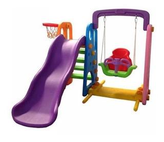 Juego Infantil Exterior, Resbalin, Columpio, Aro Basketball