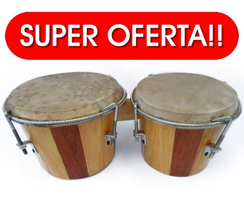 Bongo Profesional De Madera Teca Cedro Y Pino Percusión