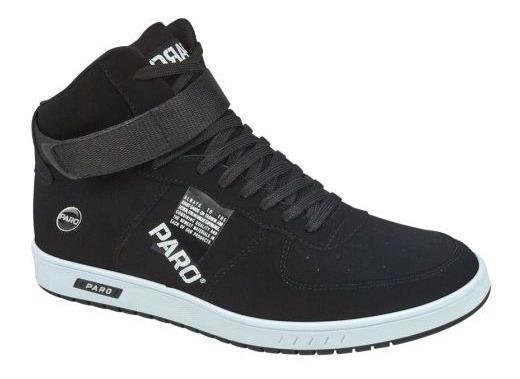 Tenis Casual Skate Paro Negro-blanco 830158 Urbano 2-18 A