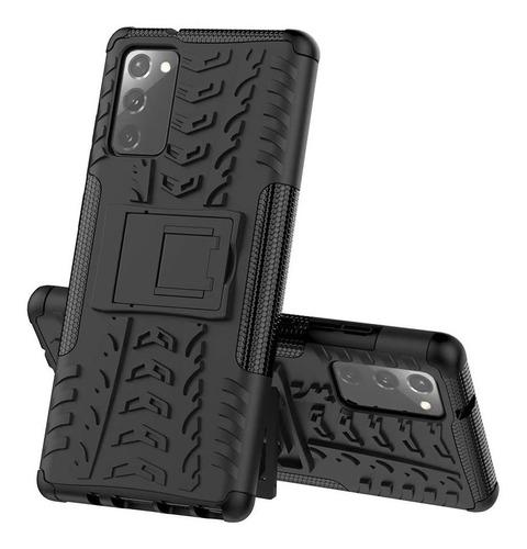 Imagen 1 de 4 de Estuche Protector Jkase Samsung Galaxy Note 20 - Negro