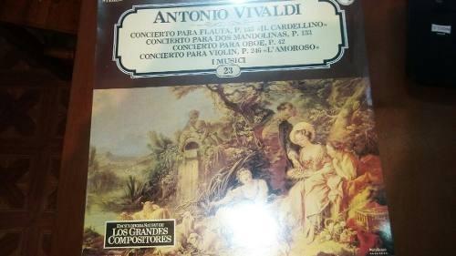 Imagen 1 de 2 de Lp Nuevo Sellado 1985 Vivaldi Concierto Para Flauta Re Ma...