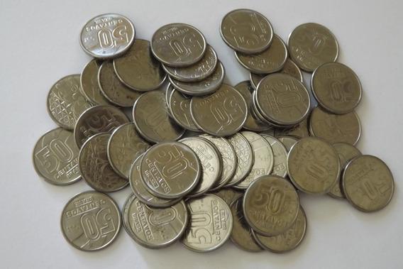 50 Moedas De 50 Centavos 1990- Cada Vez Mais Raras
