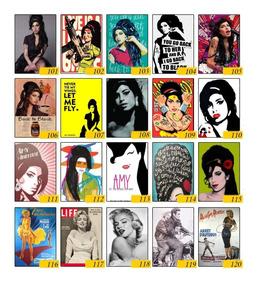 Kit 10 Placas Decorativas Pôster Amy Winehouse Artista Mdf