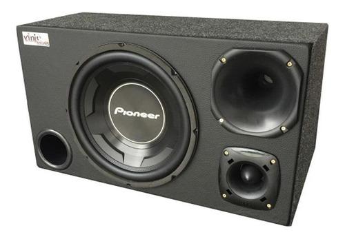 Caixa Trio Pioneer 12' Cara Preta 600w Rms Dupla D4 Completa