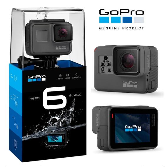 Câmera Gopro Hero 6 Black 12mp 4k Com Wi-fi E Comando De Voz