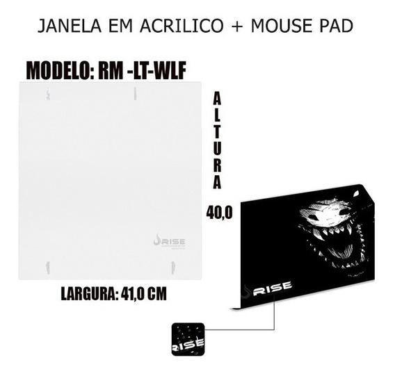 Janela Lateral Em Acrilico Fox+ Mouse Pad Rg Mp 04 Nb
