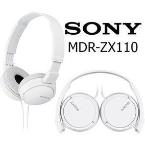 Fone De Ouvido Dobrável 1000mw Branco Mdrzx110 Sony