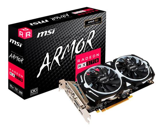 Placa Video Amd Ati Radeon Rx 570 8gb Msi Armor Oc Mexx 4