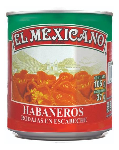 Chiles Habaneros Rodajas El Mexicano 105 Grs