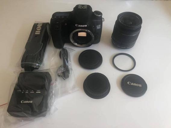 Câmera Canon Eos 70d + Lente 18-55 Frete Grátis 12x S/ Juros