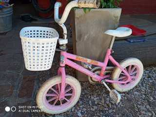 Bicicleta Rodado 12 Nenas / Barbie Bike & Flowers C/rueditas