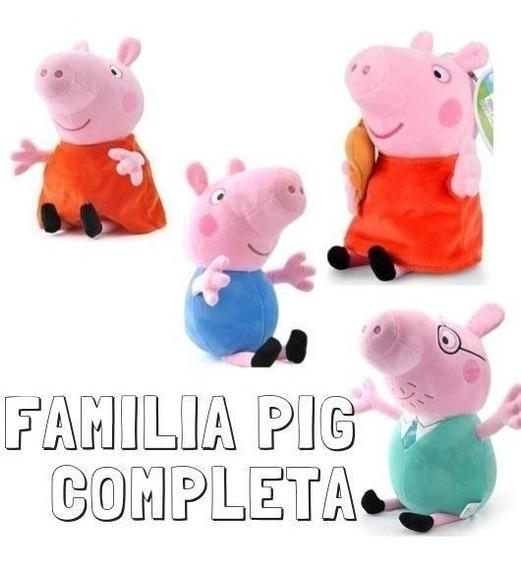 Familia Pig Peppa George Mamãe Pig Papai Pig 19 Cm Pelúcia