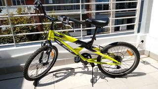Bicicleta Mountain Bike Rodado 20 Niños 6 Cambios Shimano