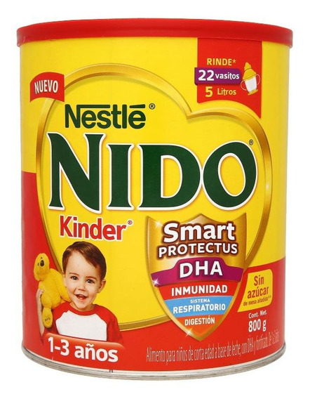 Fórmula para lactantes en polvo Nestlé Nido Kinder en lata de 800g