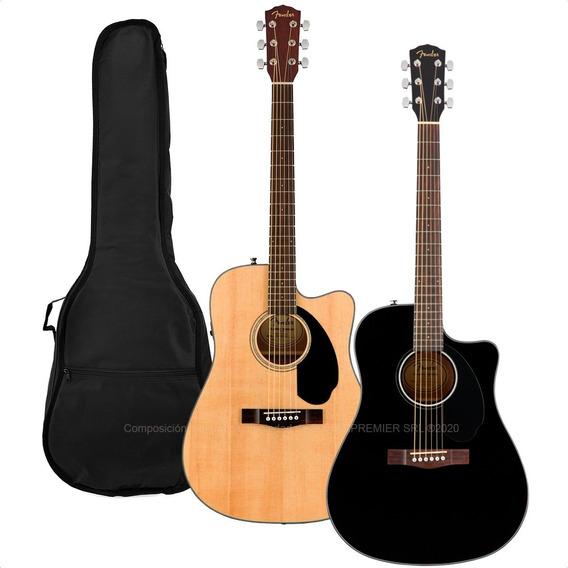 Guitarra Electroacustica Fender Cd60 Fishman Afinador Funda