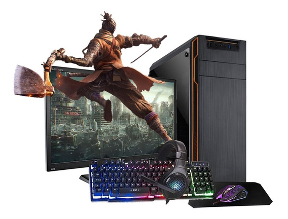 Pc Gamer 7480 8gb Ssd + Monitor Lg 19,5+ Kit Gamer Completo