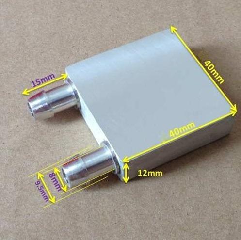 Water Block Aluminio Cpu Gpu Peltier Bloco De Aluminio