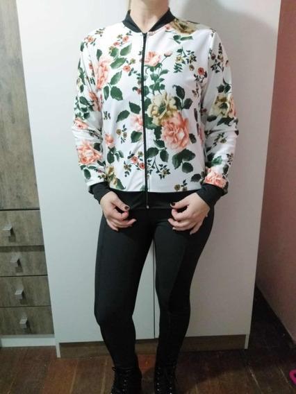 Jaqueta Bomber Feminina Blusa De Frio Casaco Floral