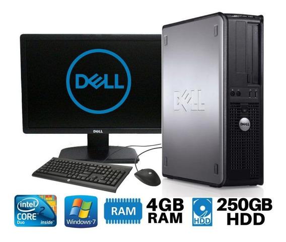 Pc Dell Core 2 Duo Hd250 4gb Monitor 19