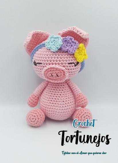 cerdito de crochet | Schwein häkeln, Gehäkelte lesezeichen, Amigurumi häkeln | 568x411
