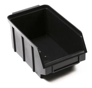 Caixa Bin Organizadora Plástica Nº3 Preta Kit Com 25 Peças