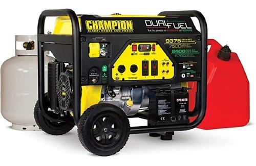 Imagen 1 de 3 de Planta De Luz Generador Champion 9375/7500w A Gas Y Gasolina