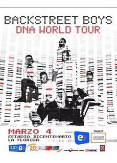 Entrada Backstreet Boys - Golden 4 De Marzo