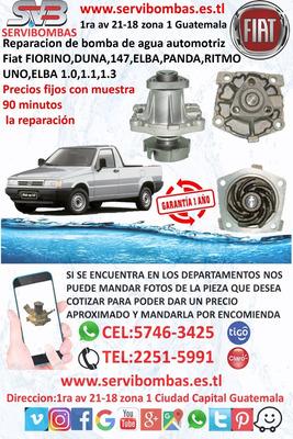 Bombas De Agua Fiat Fiorino 1.0,1,1.3 Duna,147,elba,panda